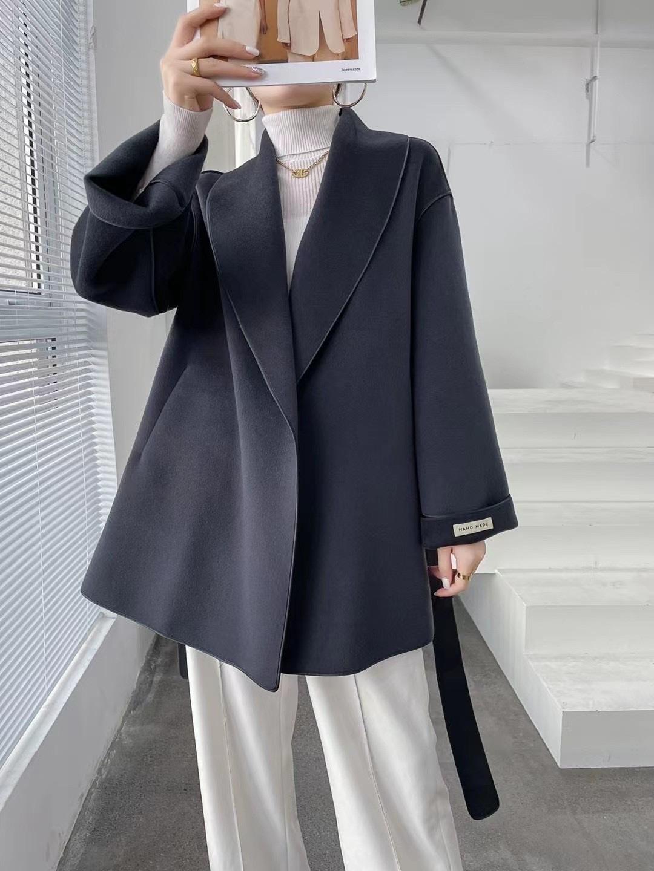 新款全毛长外套大衣时尚潮流休闲经典2115-2