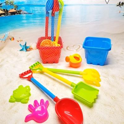 儿童沙滩玩具套装宝宝玩沙子挖沙铲子和桶工具男孩大号沙滩铲套装688-87D