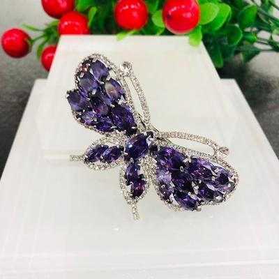 紫色锆石蝴蝶横夹